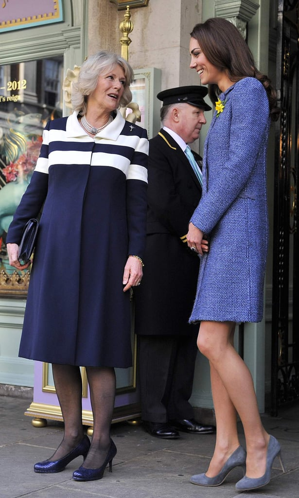 Kate Middleton Joins the Queen and Camilla For Tea and Dog Biscuits in London