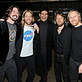 The guys of the Foo Fighters, Dave Grohl, Taylor Hawkins, Pat Smear, Chris Shiflett and Nate Mendel, celebrated their five wins.
