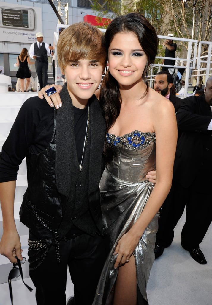 Selena Gomez stopped to pose with Justin Bieber at the September 2010 MTV Video Music Awards.