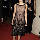 Natalie Portman in a Sheer Tea-Length Dress at the 2003 American Cinematheque Awards