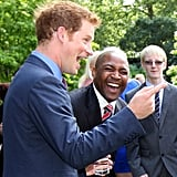 Prince Harry made Olympic Gold medalist Darren Campbell laugh.