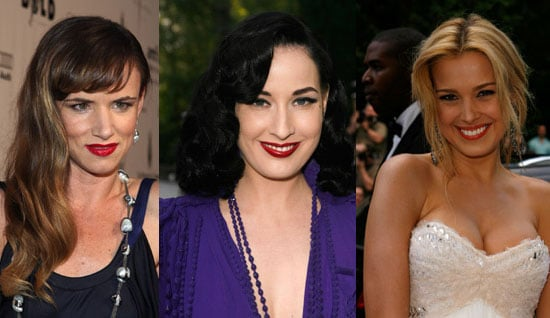 Who Wore Red Lips Best at the amfAR Event?