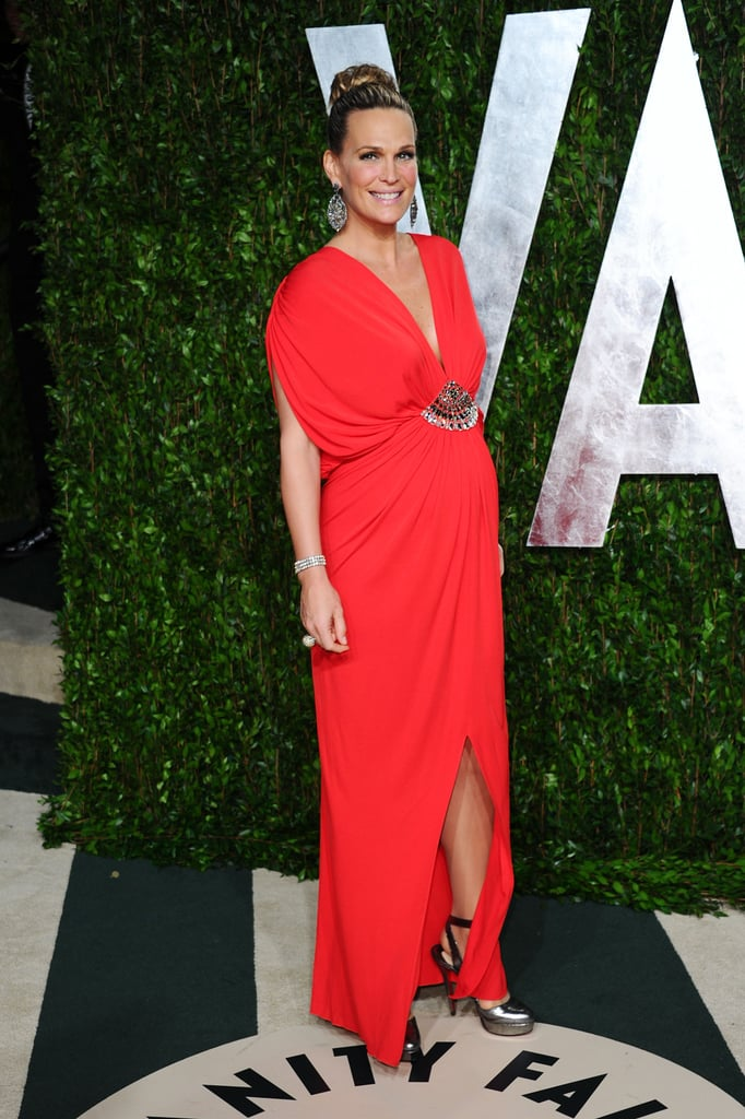 Molly Sims in Azzaro.