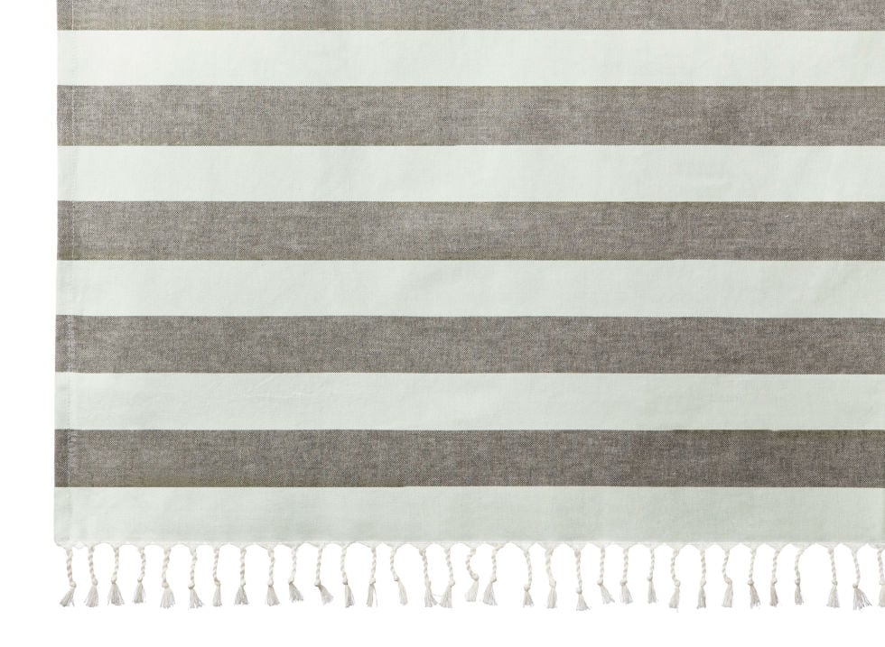 Gray Stripe Shower Curtain 25