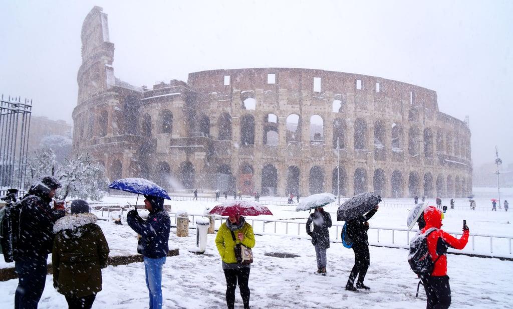 Rome Snow Photos