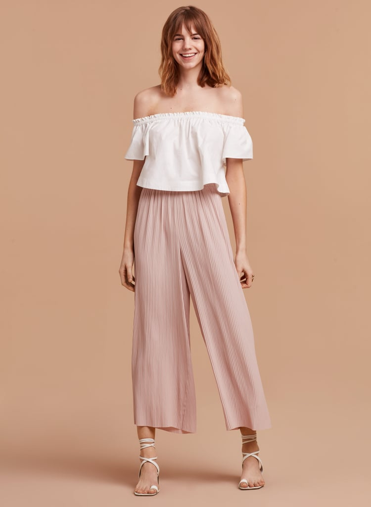 Wear Aritzia's chaunce pants ($145) with an equally billowy crop top.