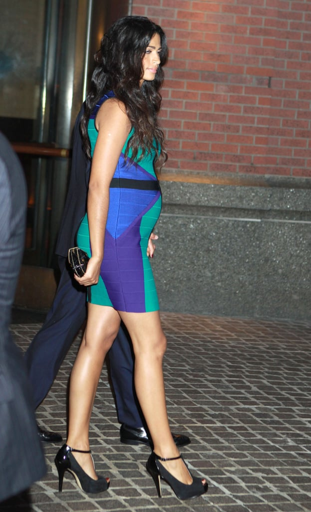 Camila Alves Showed Off Her Baby Bump In A Tight Dress In
