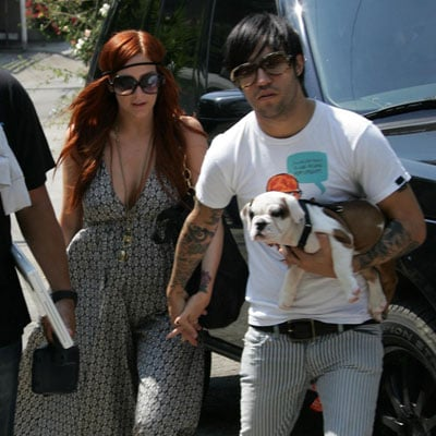Pete Wentz and Ashlee Simpson on 4th of July