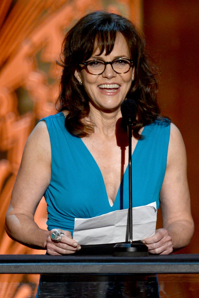 Sally Field took the stage at the AFI Life Achievement Award dinner honouring Shirley MacLaine in LA.