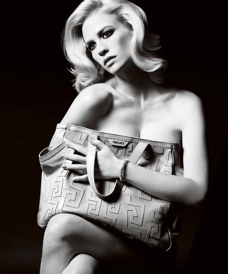 January Jones Wears Nothing But Accessories for Her Spring 2011 Versace Campaign