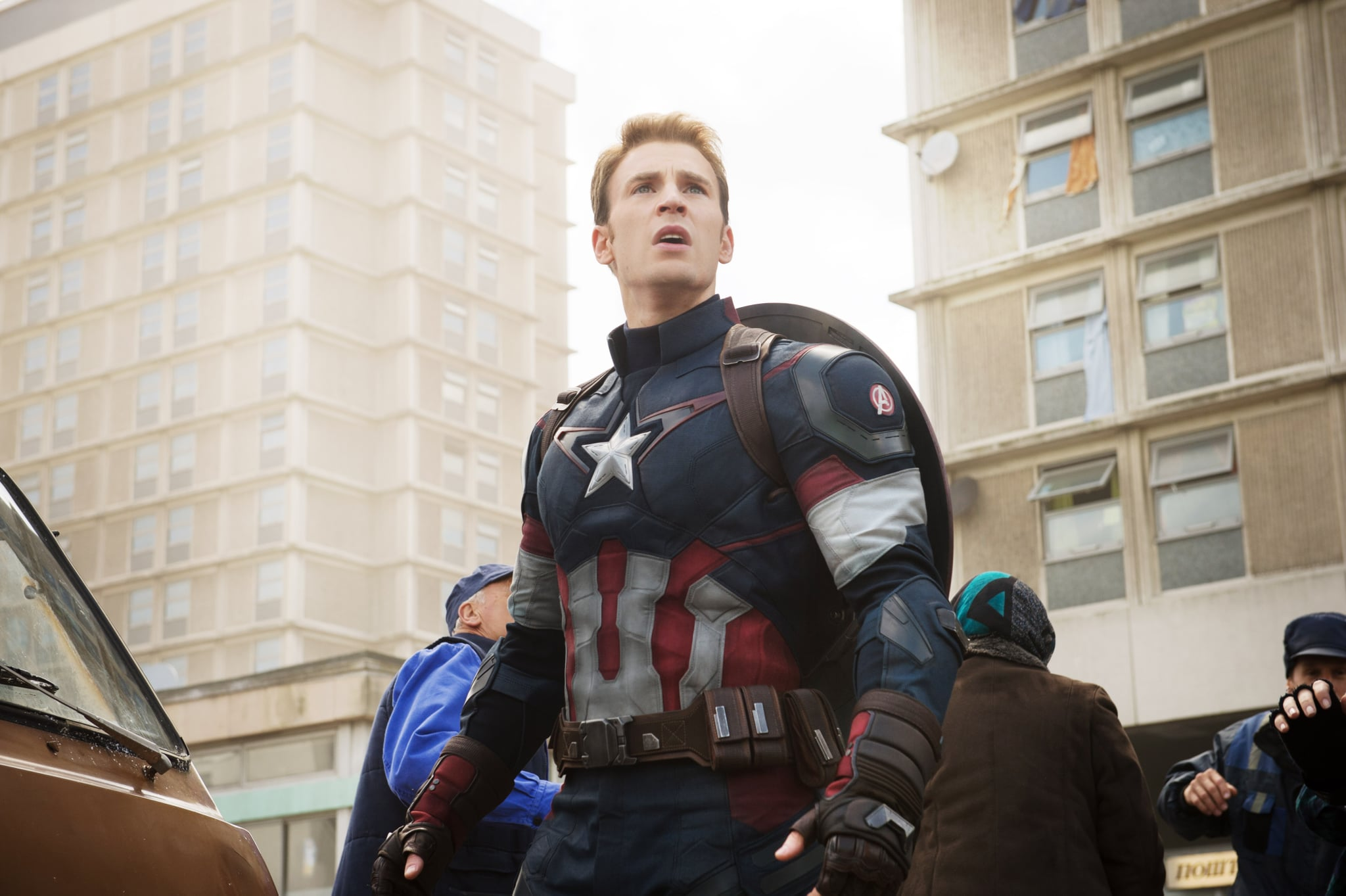 AVENGERS: AGE OF ULTRON, Chris Evans as Captain America, 2015. ph: Jay Maidment /  Walt Disney Studios Motion Pictures / courtesy Everett Collection