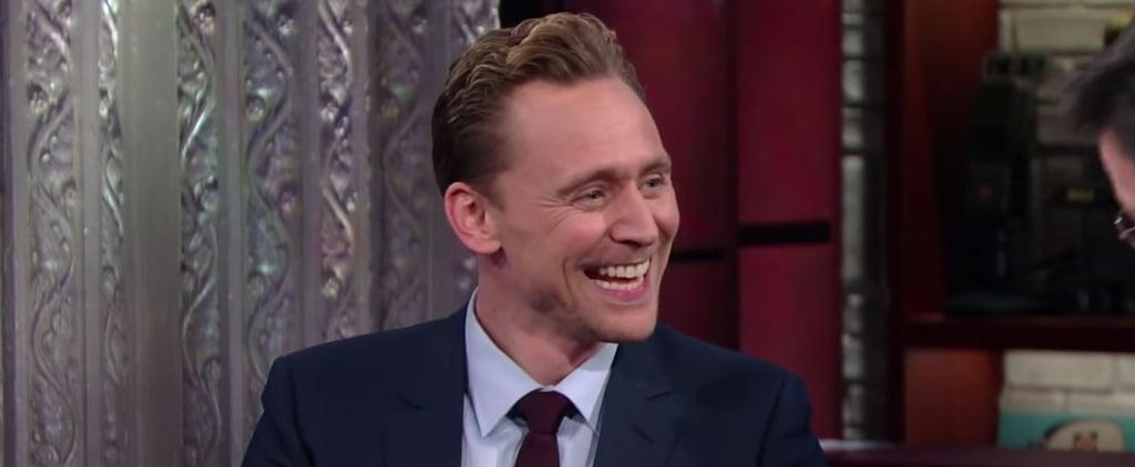 Tom Hiddleston on Stephen Colbert Video March 2016
