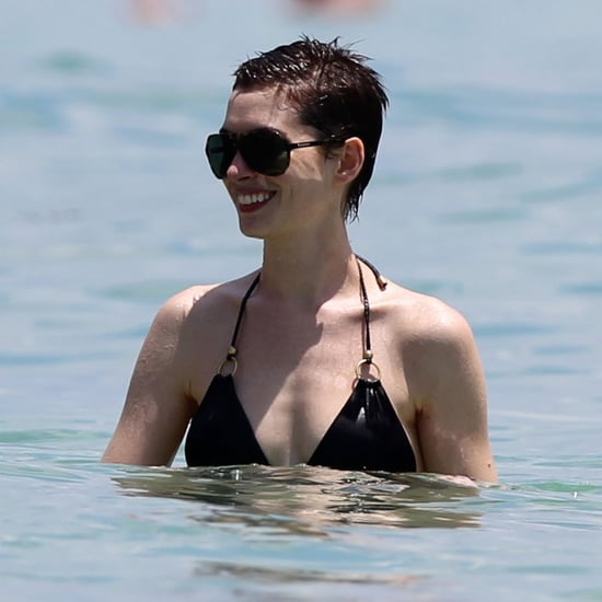 Anne Hathaway In A Bikini On A Beach In Miami