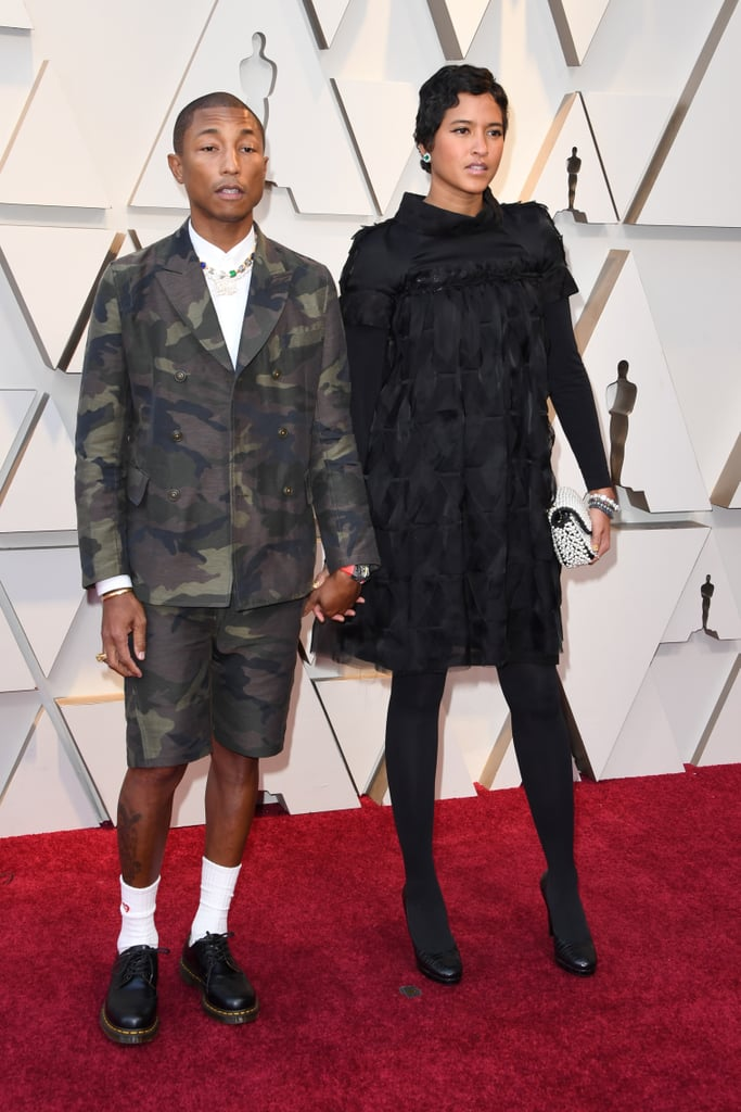 Pharrell Williams and Helen Lasichanh at the 2019 Oscars
