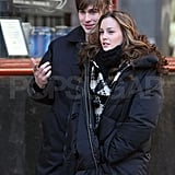 Chace Crawford and Ed Westwick in NYC