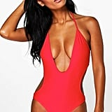Boohoo Kos Deep Plunge Swimsuit