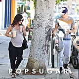 Rachel Bilson and Hayden Christensen picked up smoothies in LA on Monday.