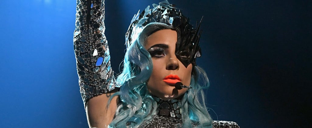 Lady Gaga Falls Off Stage With a Fan at Las Vegas Show Video