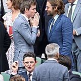 Eddie Redmayne and Bradley Cooper at Day 13 of Wimbledon