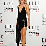 Rosie dared to bare in this high-low Anthony Vaccarello mini at the 2015 Elle Style Awards in London.