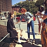 Behind-the-scenes touch-ups for Moda Operandi. Source: Instagram user modaoperandi