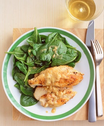 Monday's Leftovers: Sautéed Chicken with Spinach