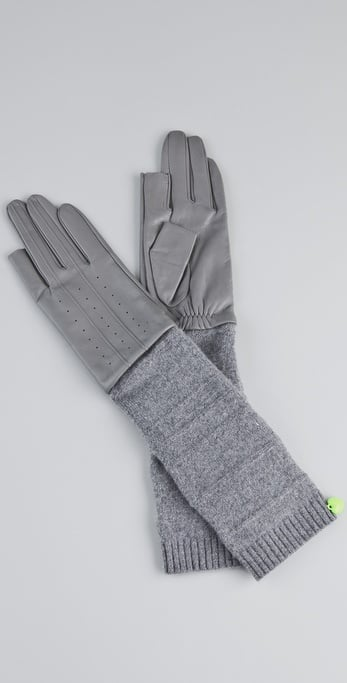 The sleek look of these long leather gloves reminds us of Old Hollywood starlet style. Juicy Couture TXT Me Leather Gloves ($67)