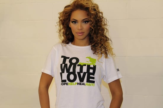 Beyonce Wears Fashion For Haiti T-Shirt