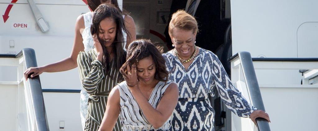 Michelle Obama Touches Down in Spain With Her Daughters and Mother