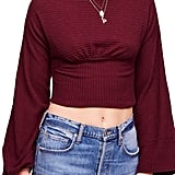 Free People Crazy on You Thermal Crop Sweater