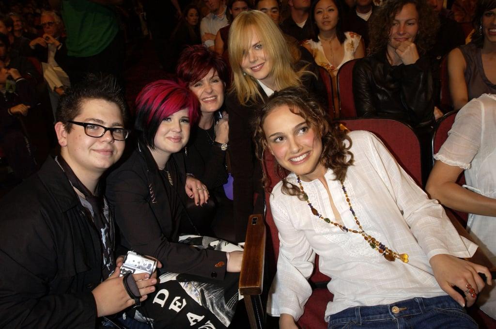 Jack, Kelly, and Sharon Osbourne; Natalie Portman; and Nicole Kidman