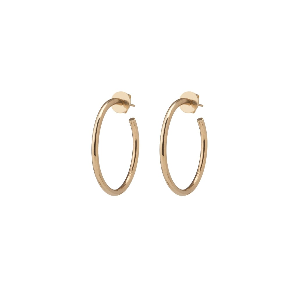 "Jennifer Fisher Jewelry 1"" Solid Gold Eternity Hoops"