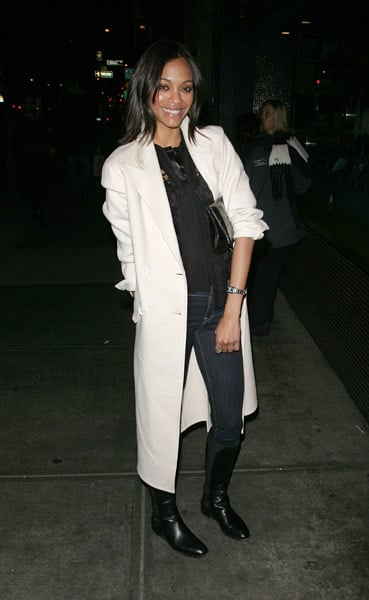 Saldana looked casually chic while celebrating HBO — get a similar look.