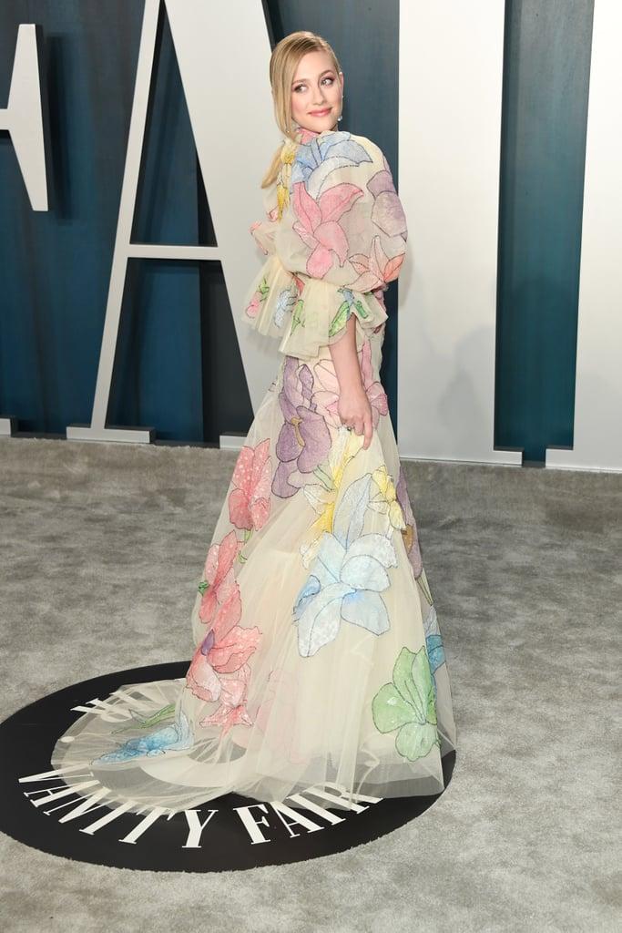 Lili Reinhart Floral Gown Vanity Fair Oscars Party 2020
