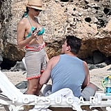 Channing Tatum and Jenna Dewan hung out on the beach in Puerto Rico.