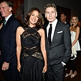 Kelly and Calvin Klein at the 18th annual ACRIA holiday dinner in New York.