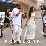 Kim Kardashian and Kanye West Wearing White in Cuba 2016