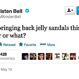 "Our answer to @IMKristenBell is a resounding ""yes!"""