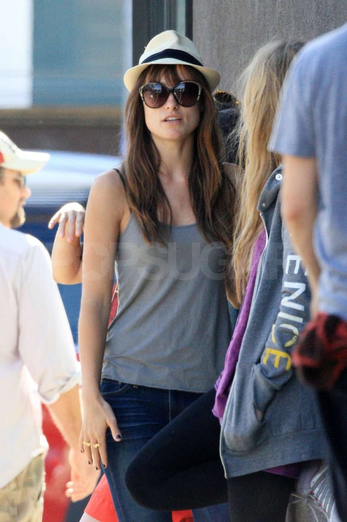 Pictures of Olivia Wilde Meeting a Friend in LA