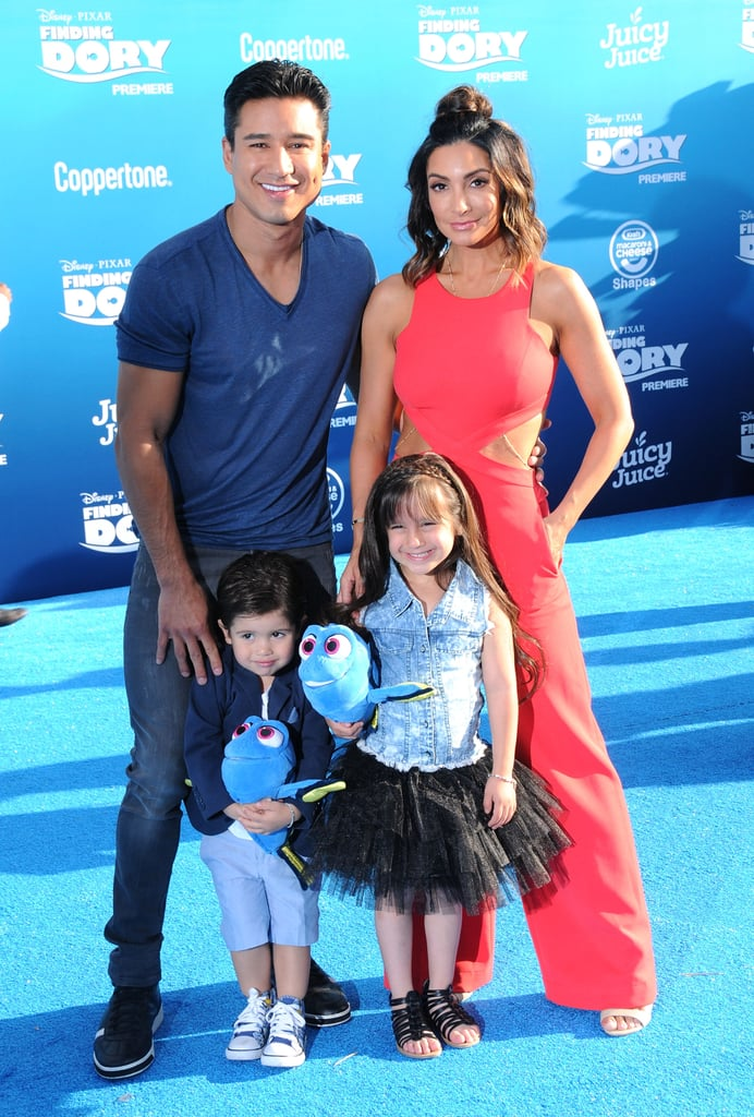 Maybe Pixar should take a break from Dory and Nemo so they can make a movie about Mario Lopez and his adorable family, because we can't get enough of them. The Extra host walked the red carpet at the Finding Dory premiere in Hollywood on Wednesday with wife Courtney Laine Mazza and their two supercute children, Gia and Dominic, who look more like their parents every day. Gia, 5, is already proving herself to be quite a red carpet queen thanks to multiple appearances with her dad at the premieres of 42nd Street and The Jungle Book, and Dominic, 2, is basically a teeny-tiny A. C. Slater. So cute! See more photos of the Lopez family below, and then check out Mario and Courtney's best social media snaps of their kids!