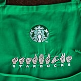 Those Who Are Deaf Wear One Embroidered With the ASL Finger-Spelling of Starbucks