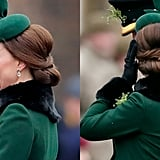 Kate Middleton's Basket-Weave Chignon, 2018