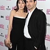 Rosemarie DeWitt and Ron Livingston on the red carpet at the Spirit Awards 2013.