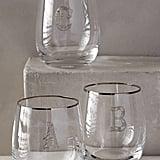 Anthropologie Etched Monogram Glass ($10, originally $16)