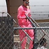 Jennifer Lopez got off of the plane in LA.