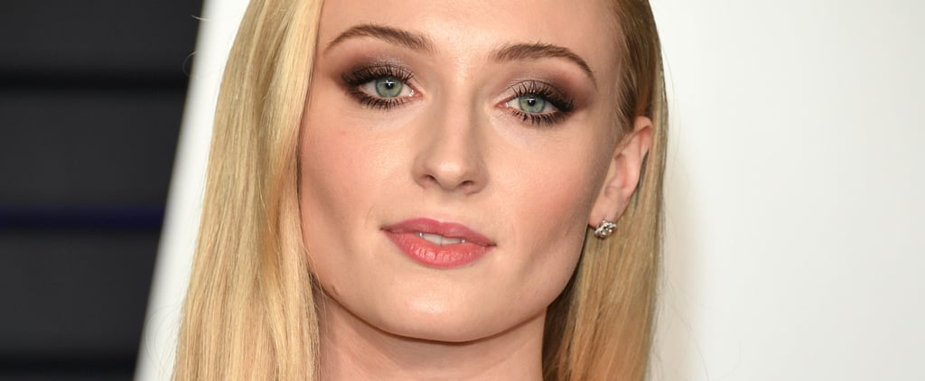 Sophie Turner Blue Eyeliner March 2019