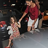 Katie Holmes went to get ice cream in NYC with Suri.