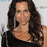 Minnie Driver's hot leather number and dangly earrings.