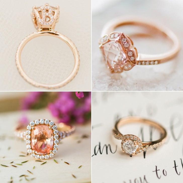 gold engagement rings popsugar