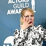 Christina Applegate's Black Striped Manicure at the 2020 SAG Awards